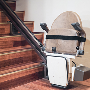stairs with wheelchair access stairlift